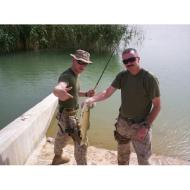 One of many photos from the Fishin'Pal website of their donation of fishing equipment to soldiers in Iraq. www.fishinpals.net/Pictures_From_Iraq.php