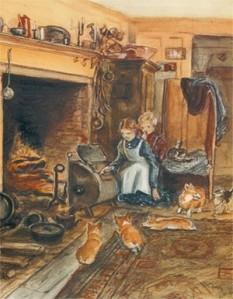 Tasha's Hearth print from the Tasha Tudor and Family website