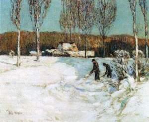 t_Childe Hassam - Snow shovels, New England