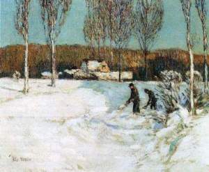 t_Childe Hassam - Snow shovels, New England