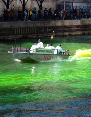 Picture source and information can be found at www.chicagostpatsparade.com/river-dye.html