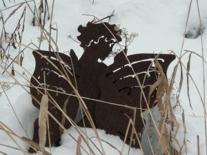 fairy in snow