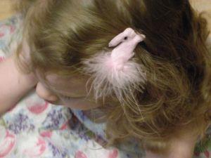 Bunny Scrunchy in K's hair
