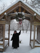 Penny in snow:Arbor