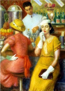 William Glackens The Soda Fountain1-2-324-25-ExplorePAHistory-a0b1n0-a_349