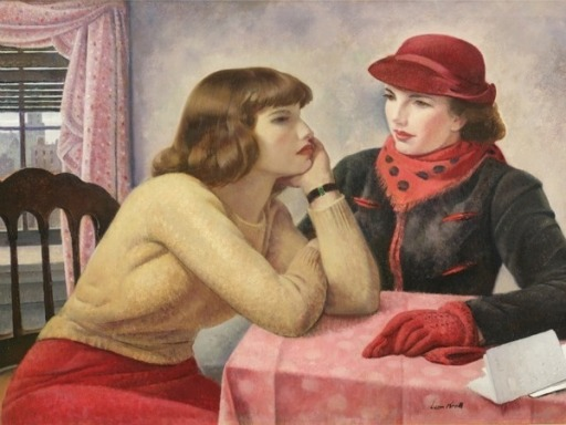 2_Abraham_Leon_Kroll_American_artist_1884_1974_The_Conversation