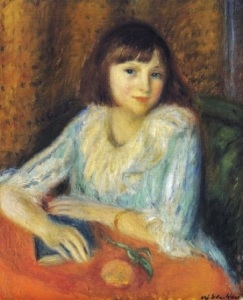 William James Glackens (American artist, 1870-1938) Portrait of Penny